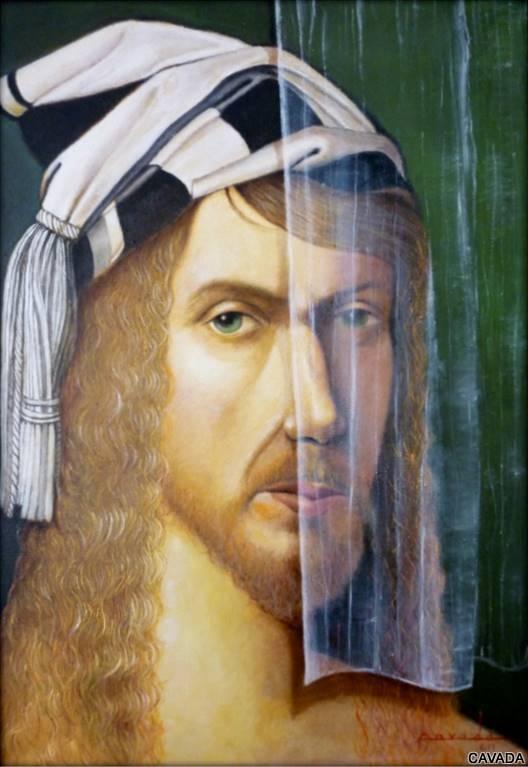 CAVADA, Retrato Durero, Oil on Canvas, 28'x 20' image