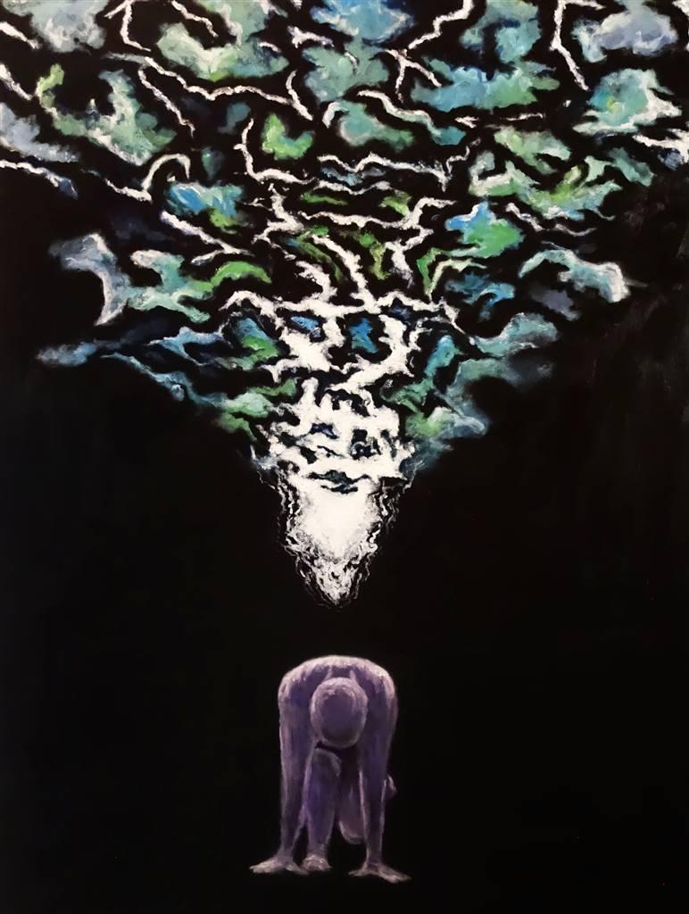 Cheryl Pettigrew, Making Angels, Oil on Canvas, 48'x 36' image