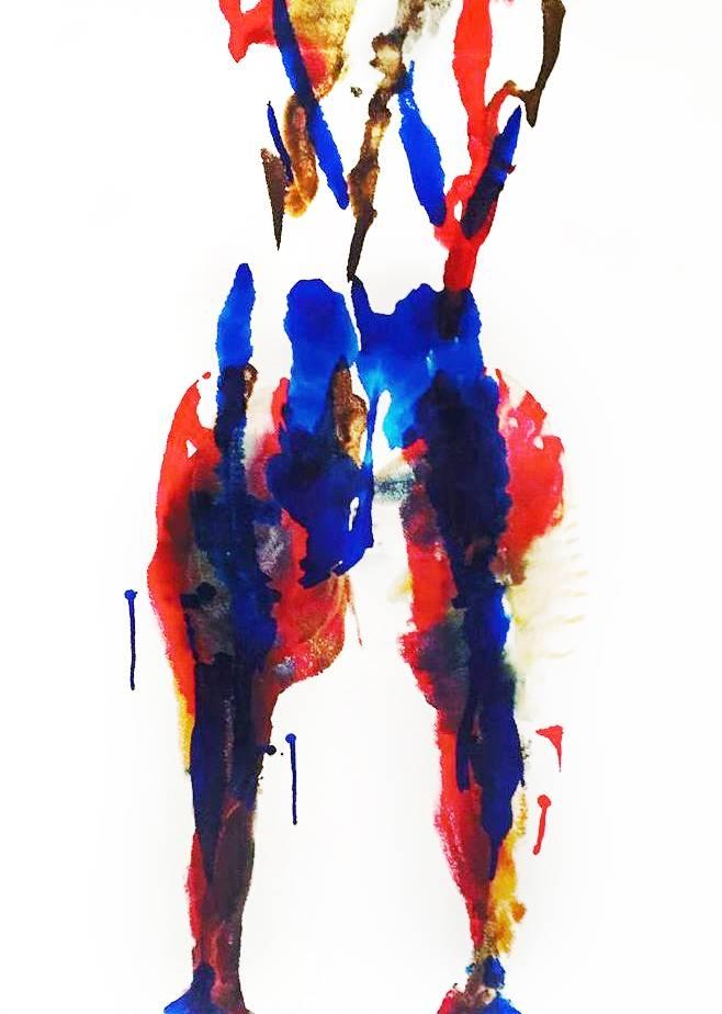 Sarah Elyse Granetz, Metamorphosis, Acrylic on Canvas, 28'x 22' image