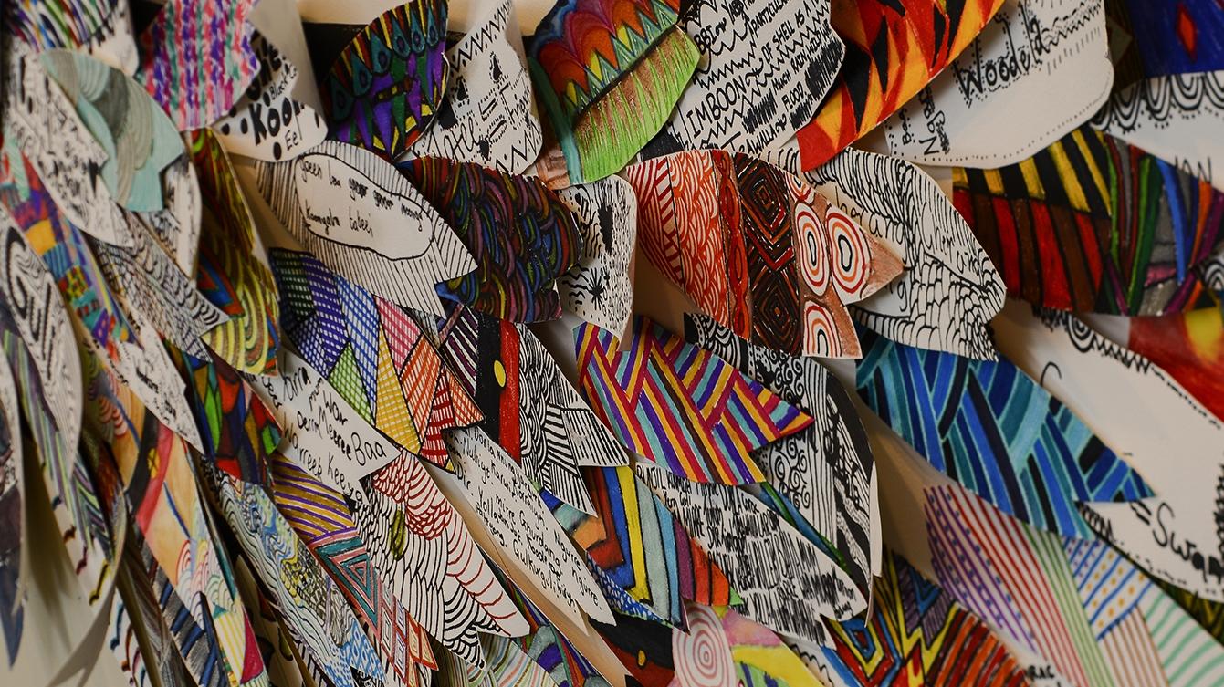 Let's talk recognition—a children's art exhibition image