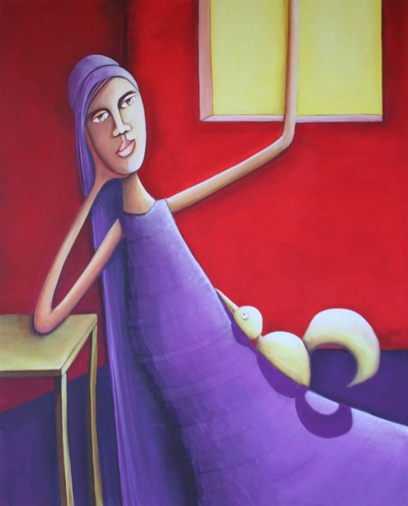 Auriane Margueron, Untitled 6, Acrylic on Canvas, 39.5''x 31.5'' image