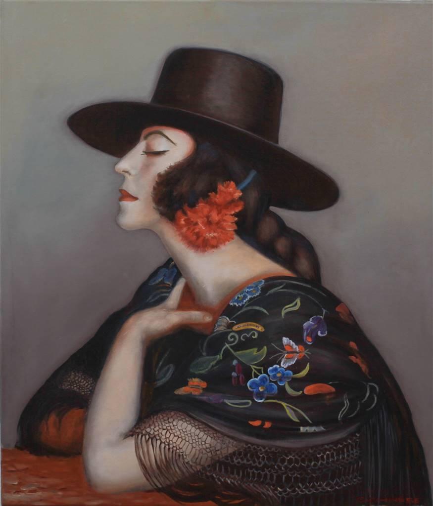 Corinne Garese, La cordobesa Oil on Canvas, 27.5''x 23.5'' image