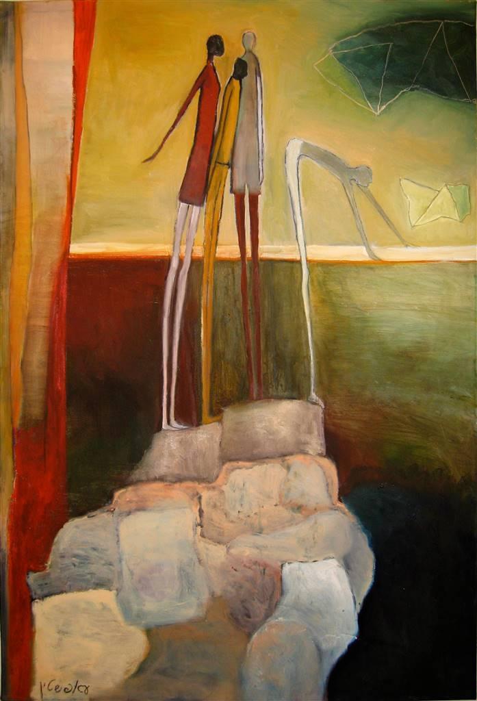 Irit Epstein, Rising Beyond the Body, Oil on Canvas, 47''x 31'' image
