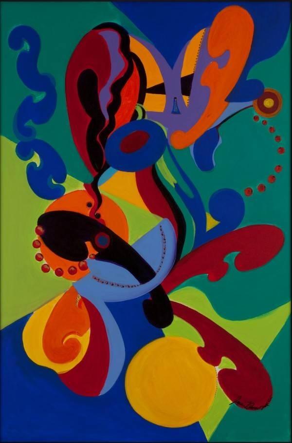 Jessie Banaszak, Jazz Movement, Acrylic on Canvas, 36''x 24'' image