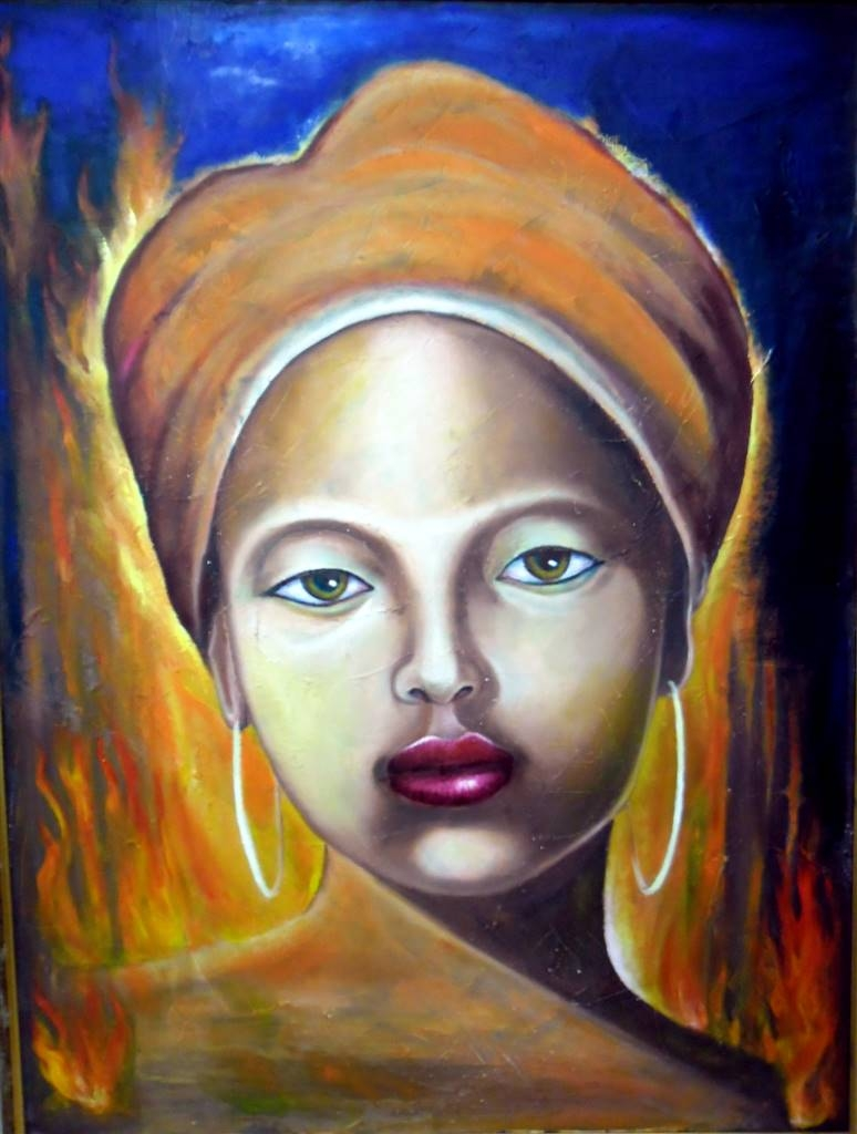 Zhenia Burnat, The Affection, Oil on Canvas, 47''x 33.5'' image