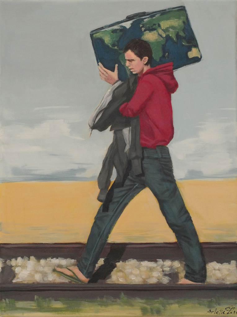 Arlette Zurbuchen,Right of Help,Acrylic on Canvas,16''x 12'' image