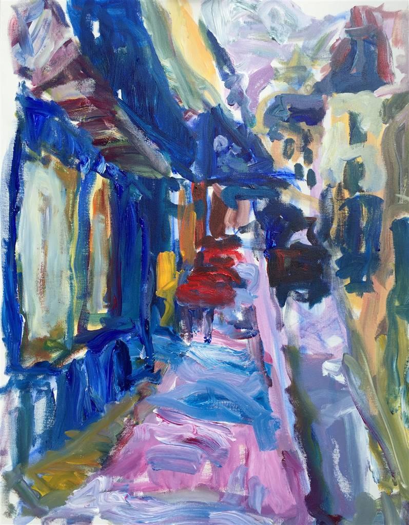 Susan Marx,Notre Dame de Lorette, Montmartre, Paris,Acrylic on Canvas,30''x24'' image
