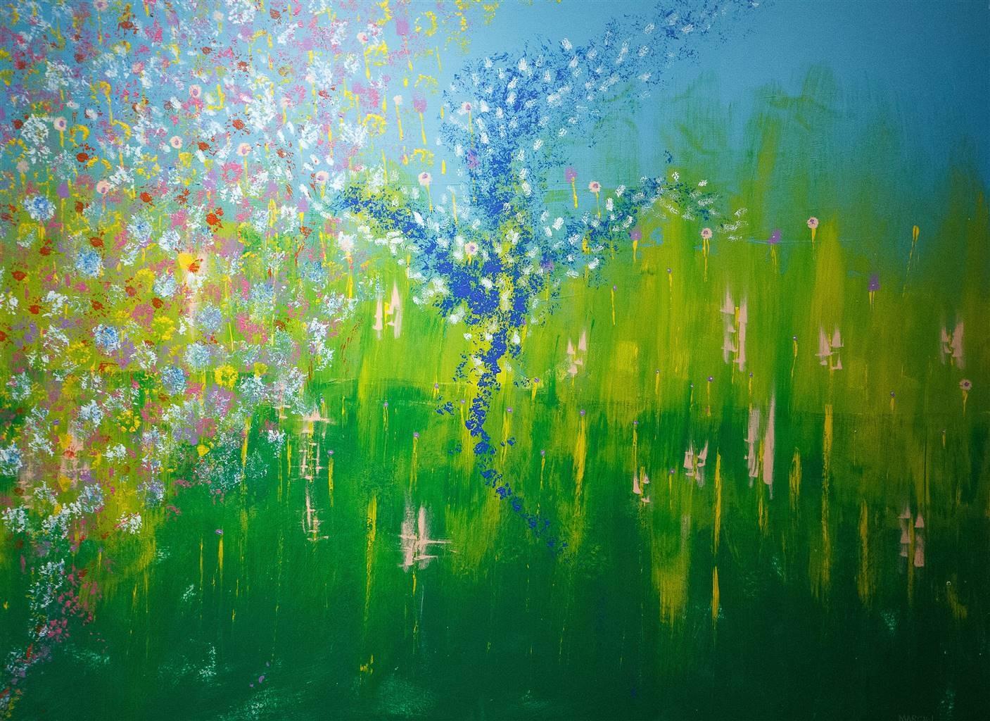 David J. Marchi, Seasons Spring,Acrylic on Canvas,53''x73'' image