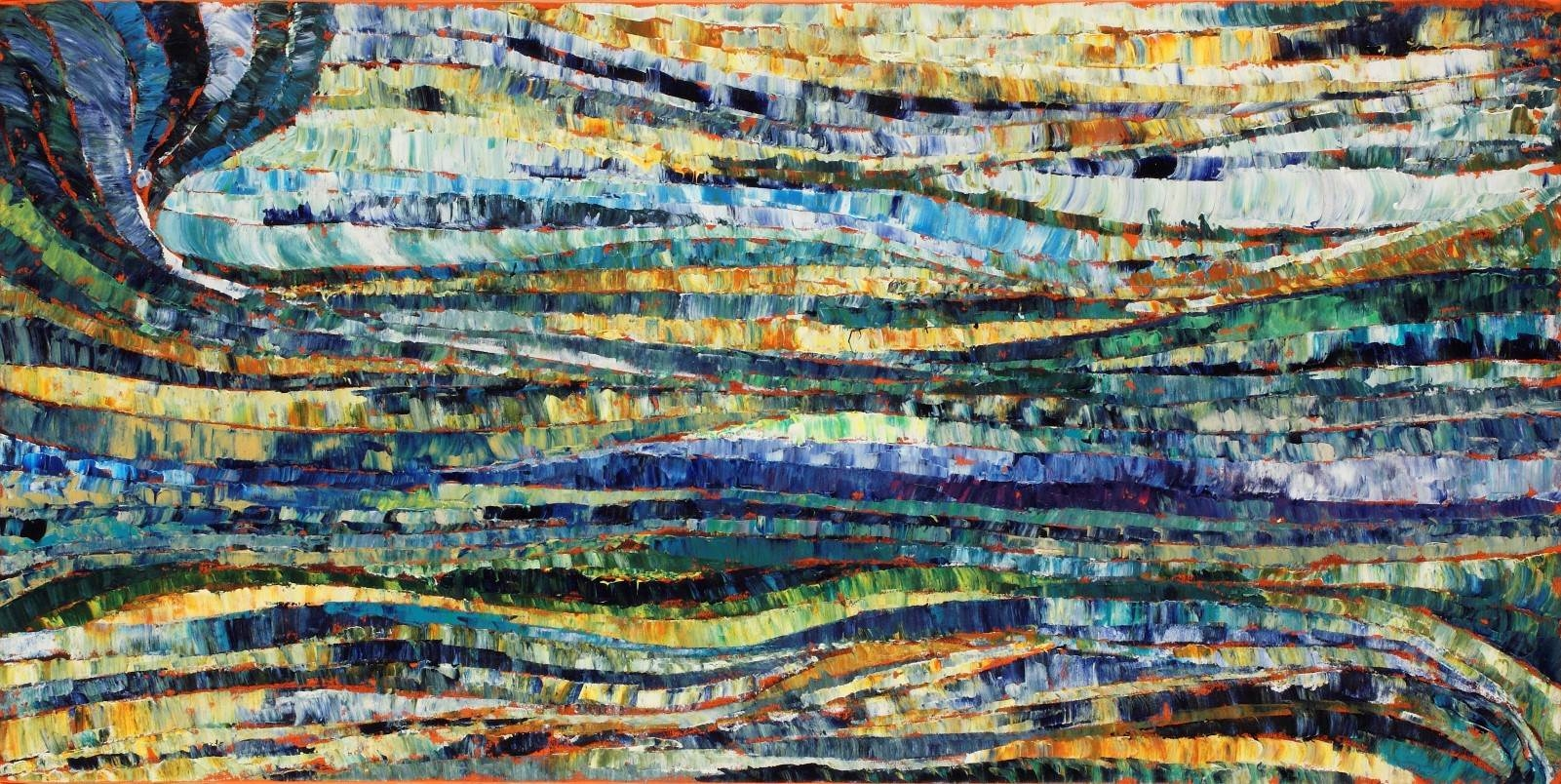 David Gista,Equinox,Acrylic on Canvas,20''x40'' image