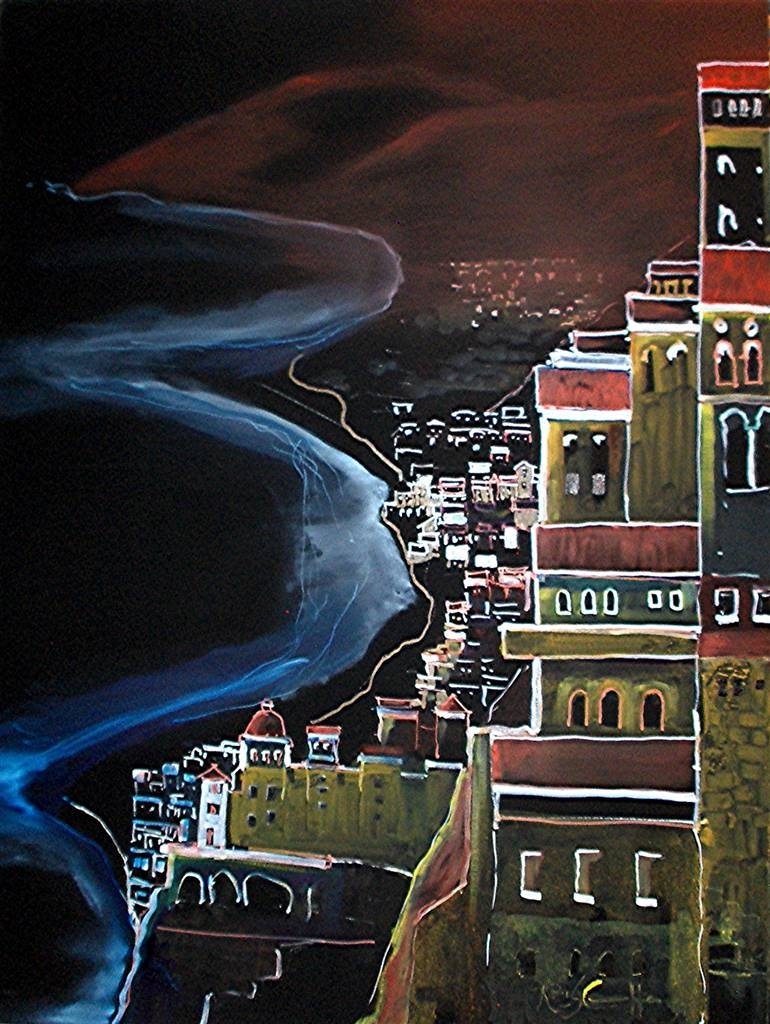 Roger DiCamillo,Atrani on the Amalfi Coast,Oil on Canvas,40''x30'' image