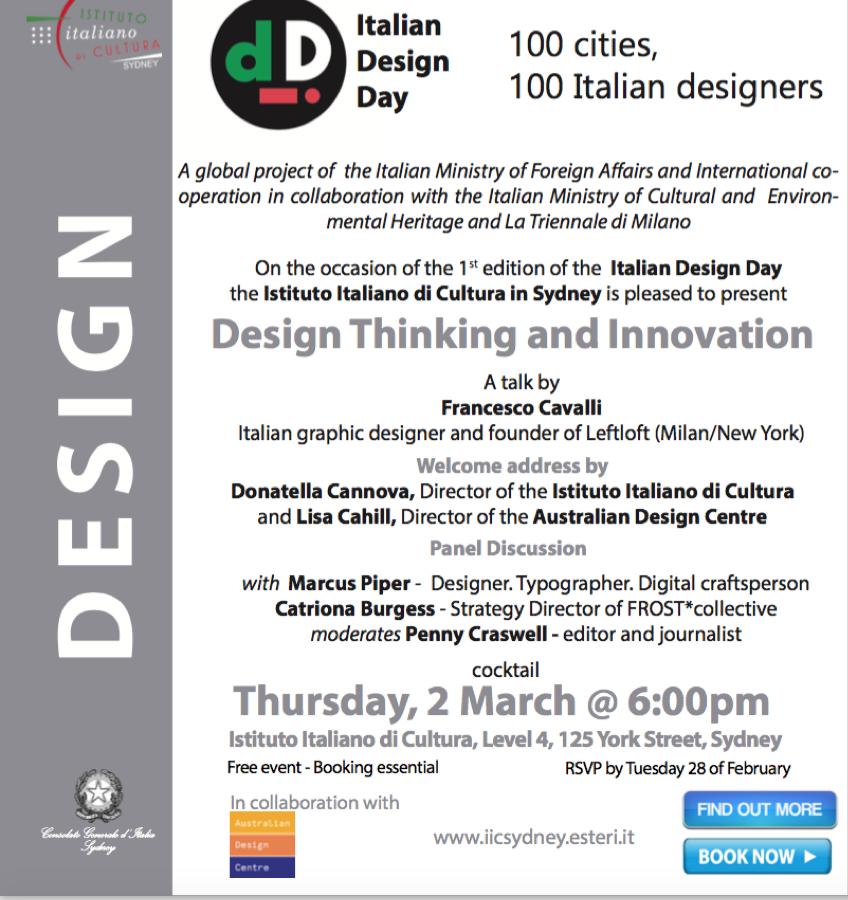 Italian Design Day - 100 Cities, 100 Italian Designers image