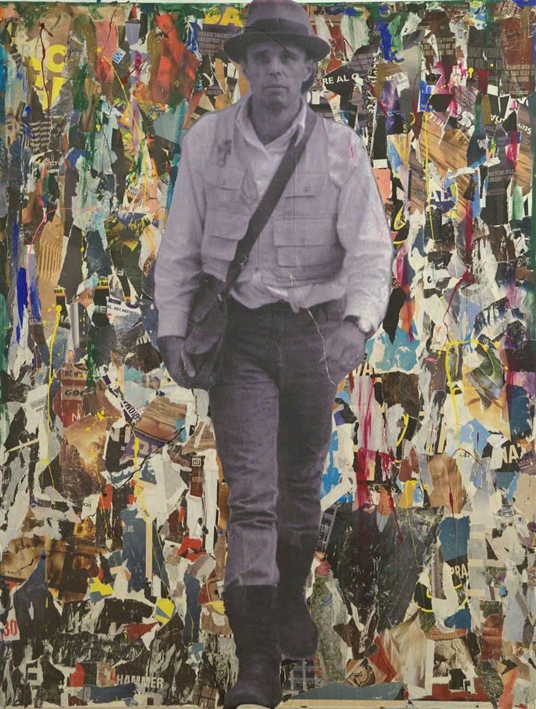 Nello Petrucci,Siamo Noi La Rivoluzione,Collage on Canvas,71''x54''x2'' image