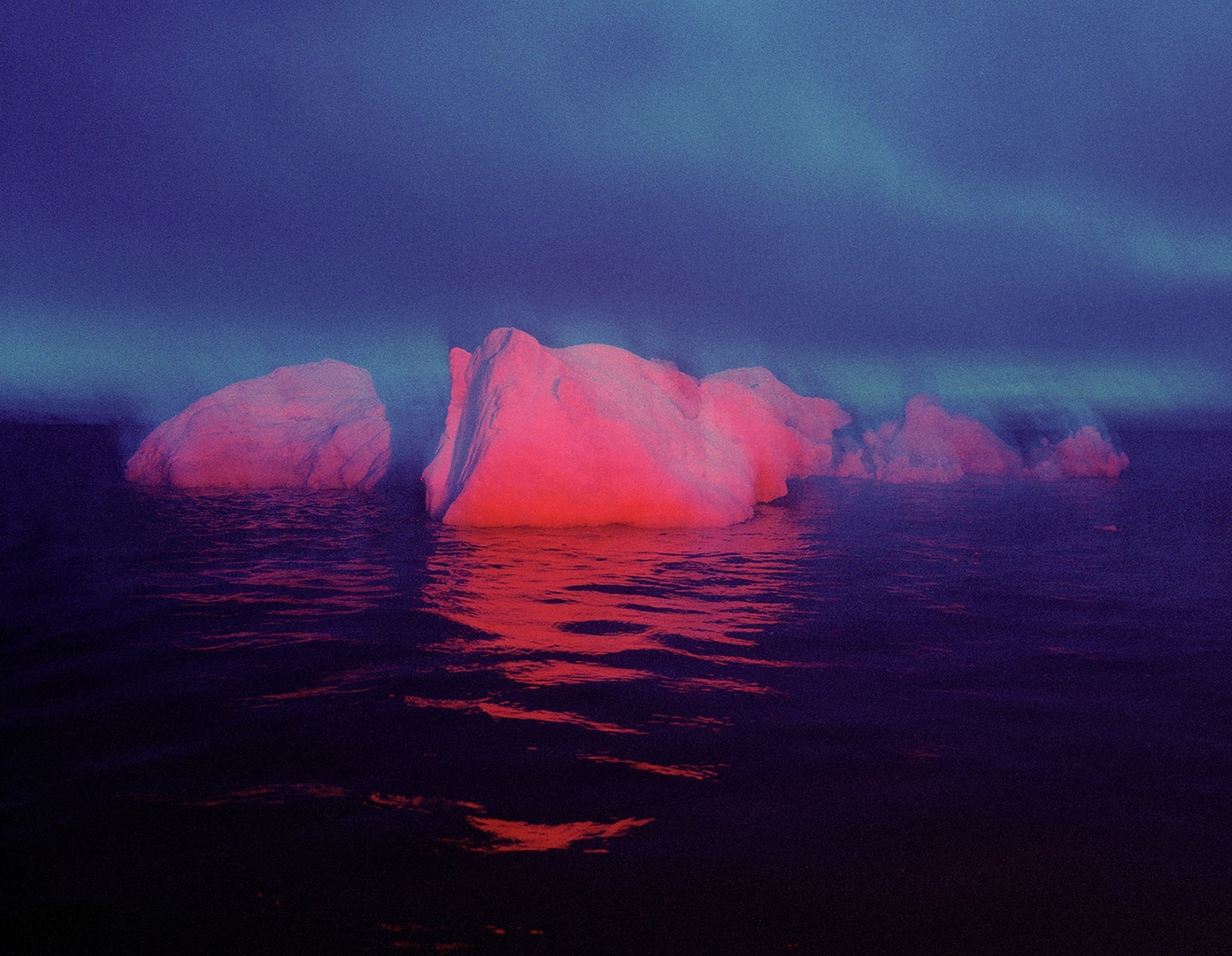 Red Ice 3. Disko Bay, West Greenland. image