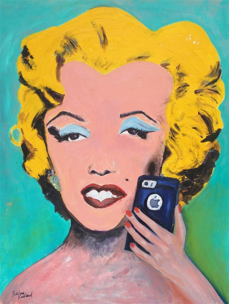 Marlene Kurland, Modern Marilyn, Oil on Canvas, 30''x24'' image