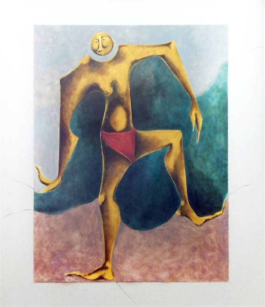 Julio Lopez Vietri, Jocker, Mixed Media on Cardboard, 31.5''x28'' image