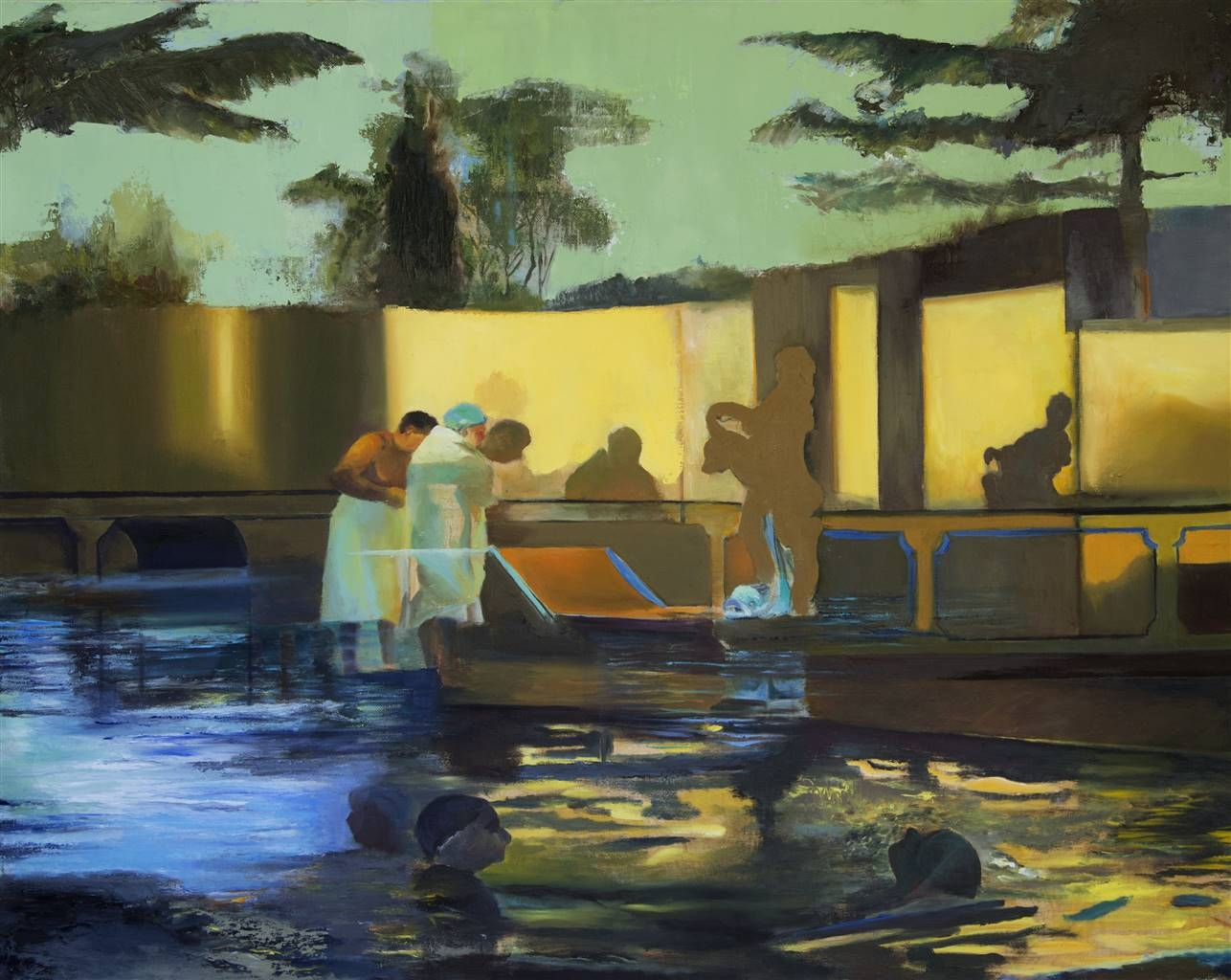 Mali Lasker, Shadows, Oil on Canvas, 28''x35.5'' image
