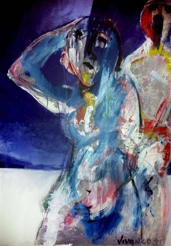 Ricardo Vivanco, New River Life, Acrylic on Canvas, 39.5''x31.5'' image