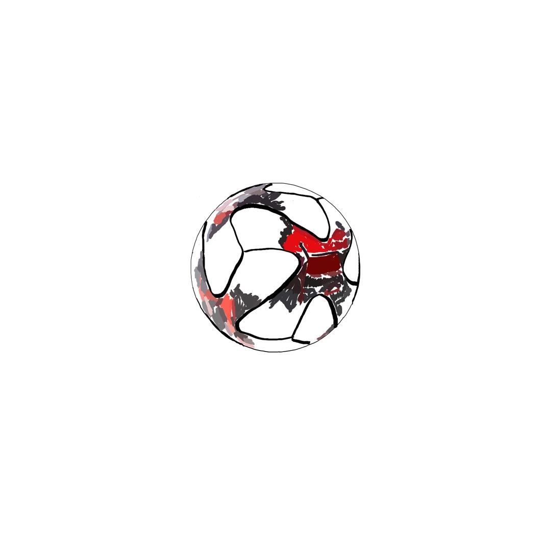 Organ no. 1  football, 2017, Digital painting, printed On fabric app image