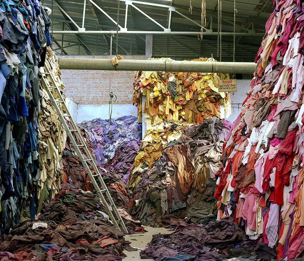 Tim Mitchell, Mutilated hosiery sorted by colour, 2005. image
