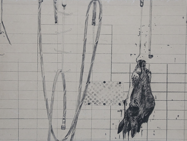 'Abattoir II' (detail) by Anna Louise Richardson image