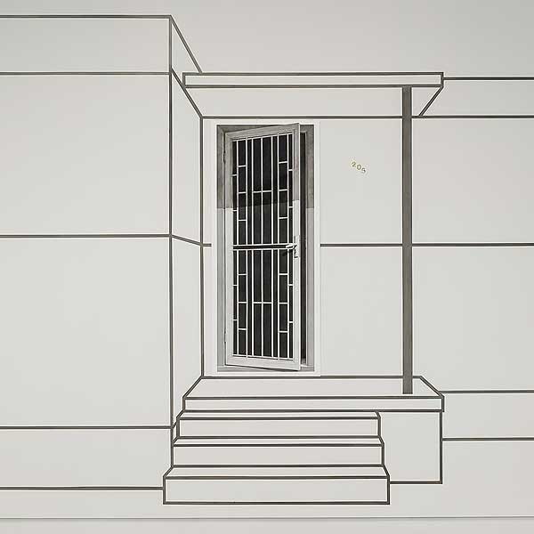 Catherine O'Donnell, 'Urban perspective (detail)' 2017, charcoal on paper, 135 x 57cm image
