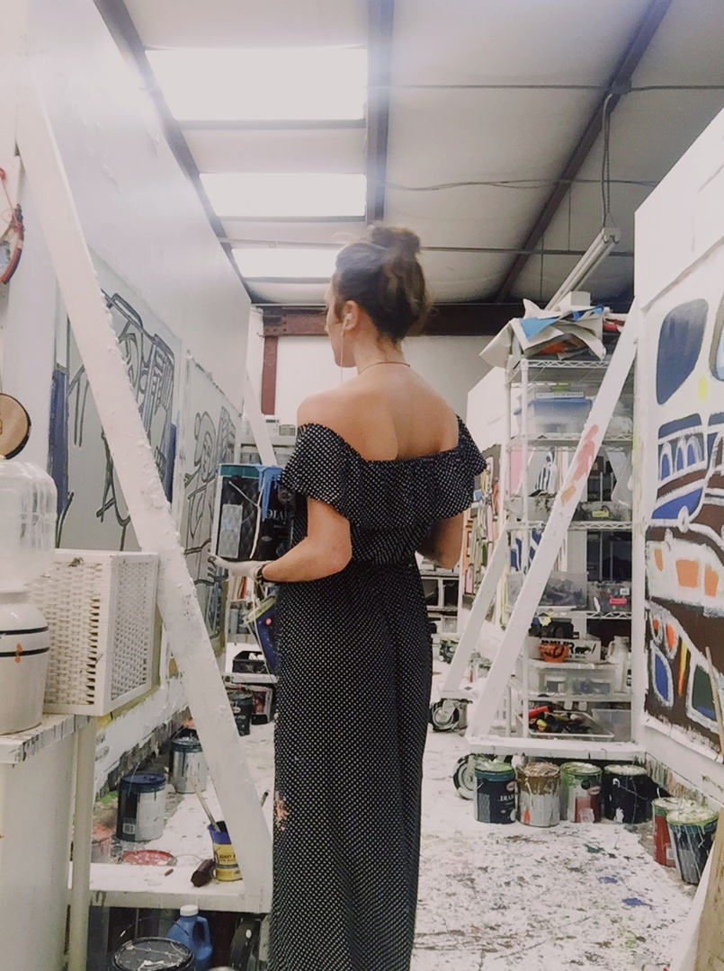 America Martin in her studio image