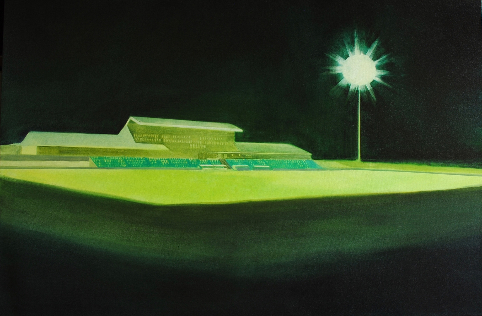 Fiona Harman, Empty Stands, 2018, oil on canvas  image