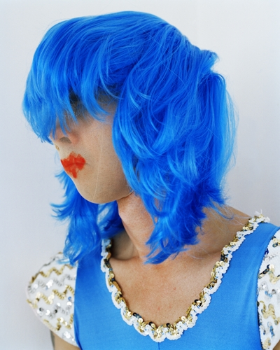 Polly Borland, Untitled (Nick Cave wearing a blue wig), 2010. image