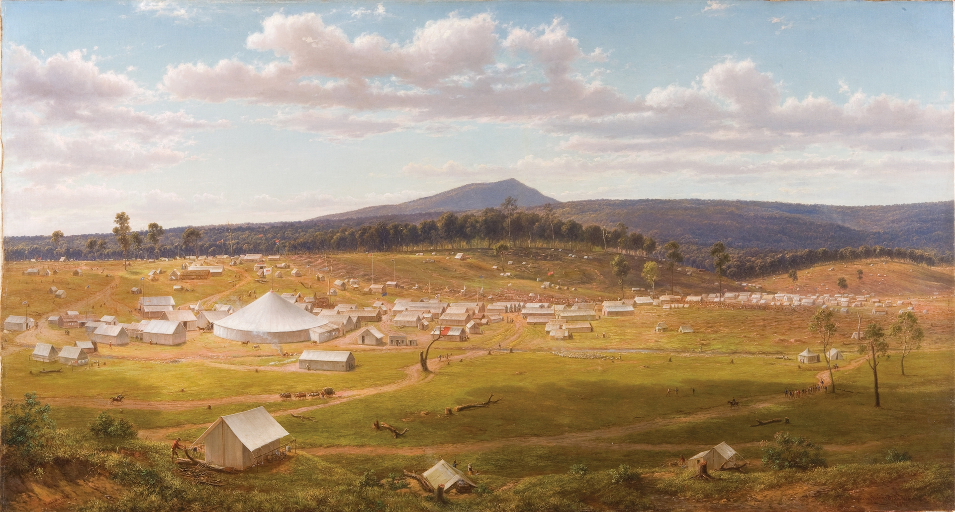 Old Ballarat as it was in the summer of 1853–54 image