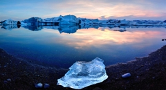 Alexander Toto,Glacier Lagoon Iceland 64.0413 N 16.1242W, Photograph on Hahnemühle Paper, 16'' x 24'' image
