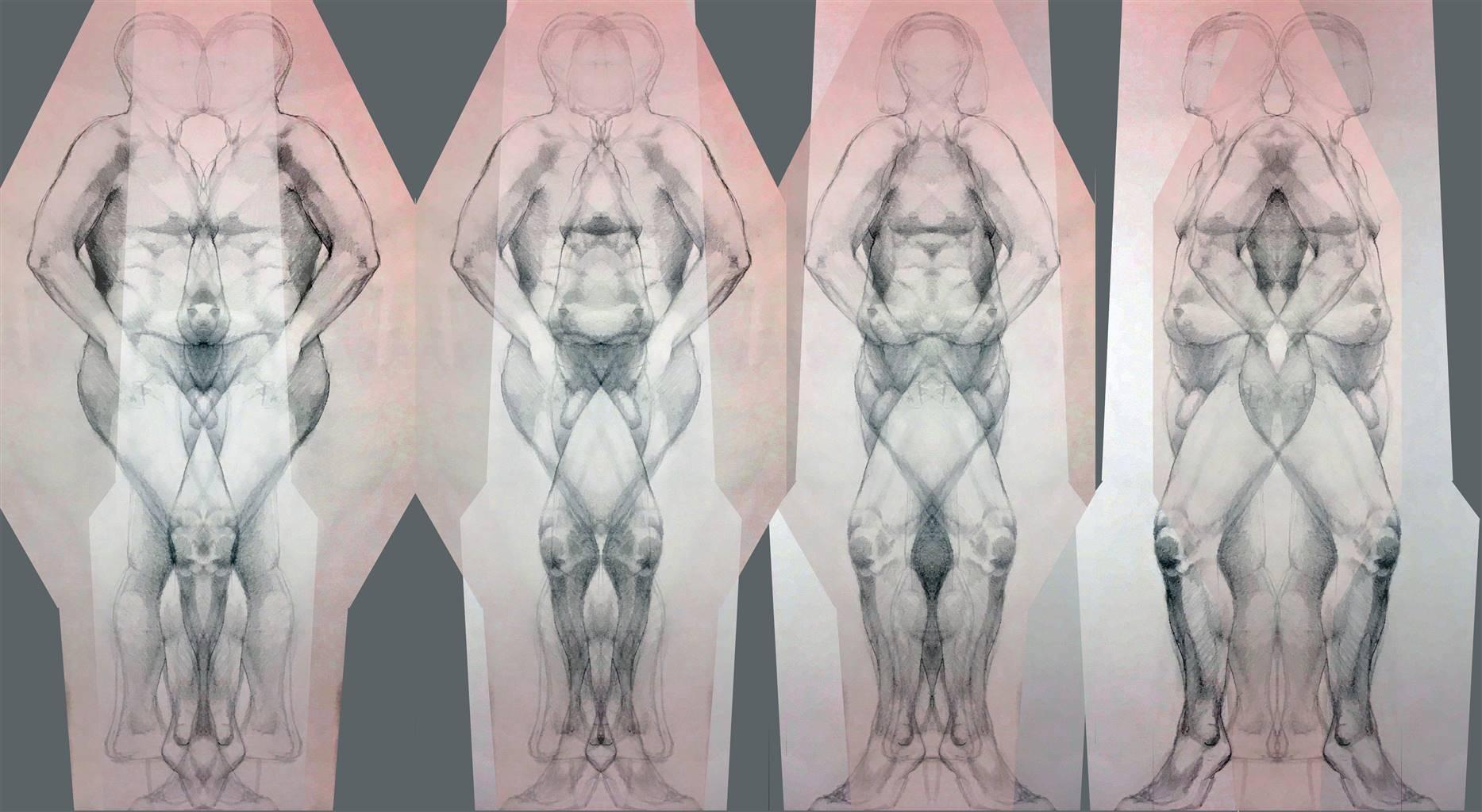 Stacey Dolen,Janus, Digital Print on Aluminum, 10'' x 18'' image