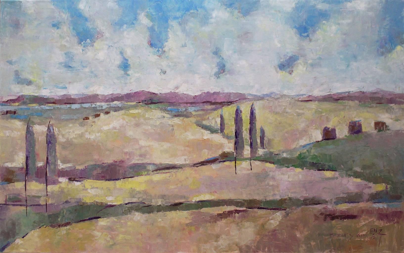 Becky Sungja Kim,The Homeland, Oil on Linen, 30'' x 48'' image