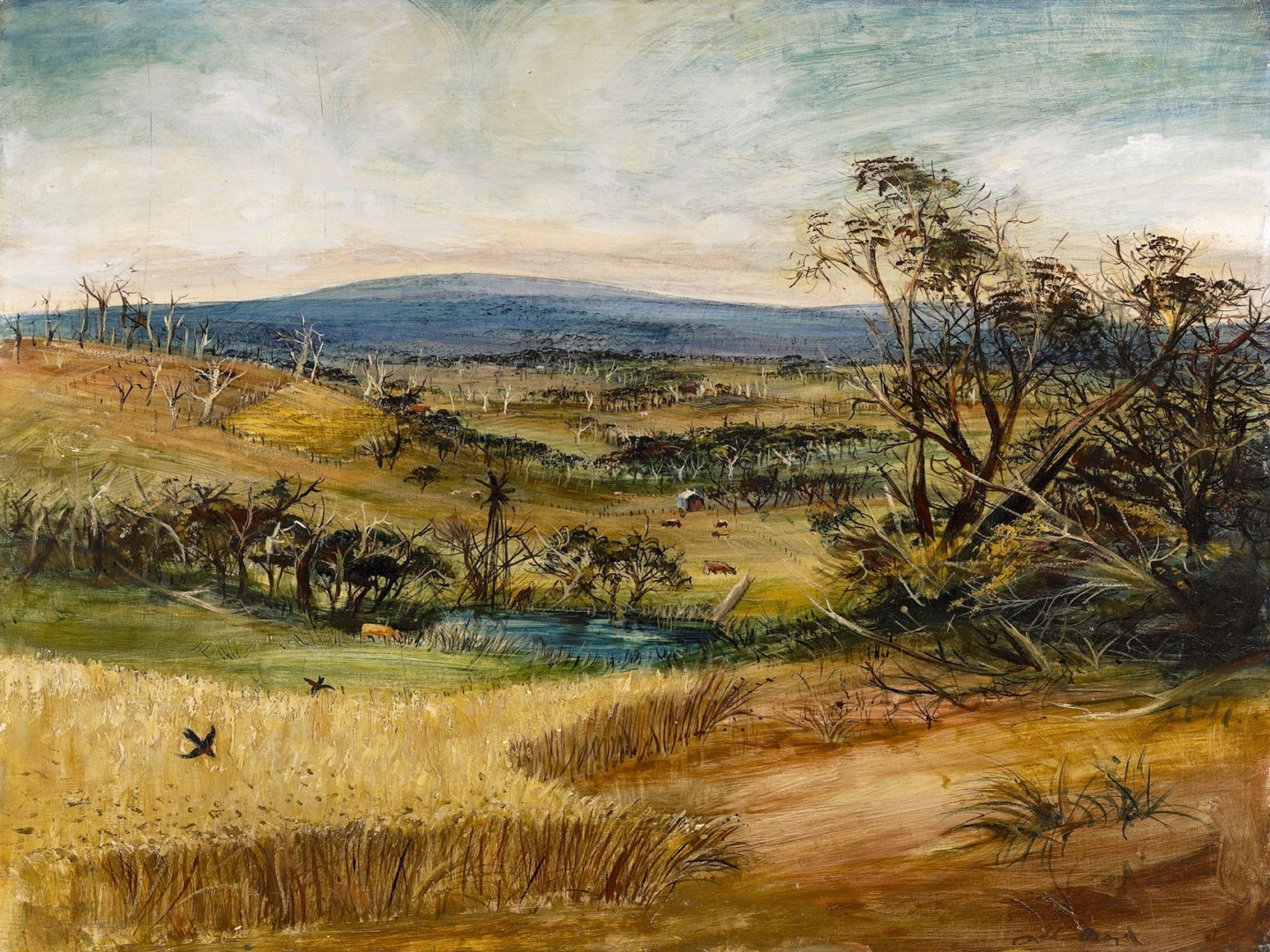 Arthur Boyd, The wheatfield (1948) image