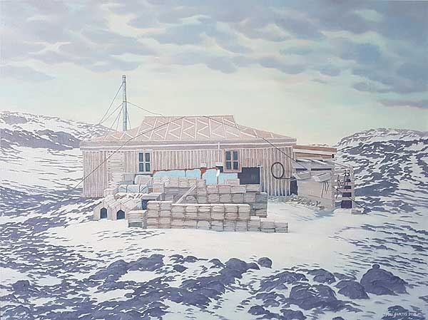 Sybil Curtis, 'The Nimrod Hut' 2018, oil on linen, 90 x 120cm  image