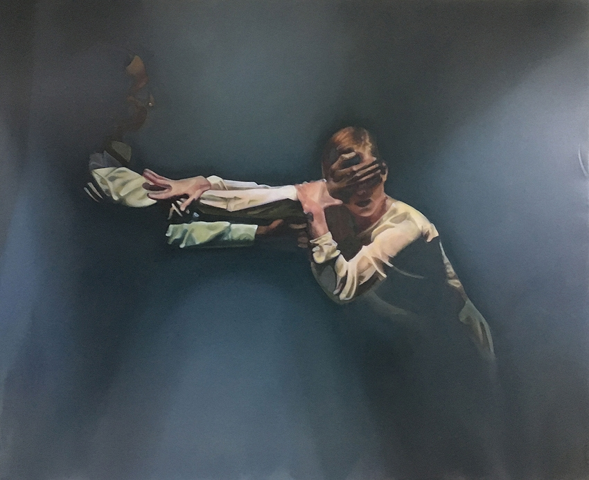 Bridget Dolan, 'Reach' 2017,  oil on polyester, 140 x 170cm  image