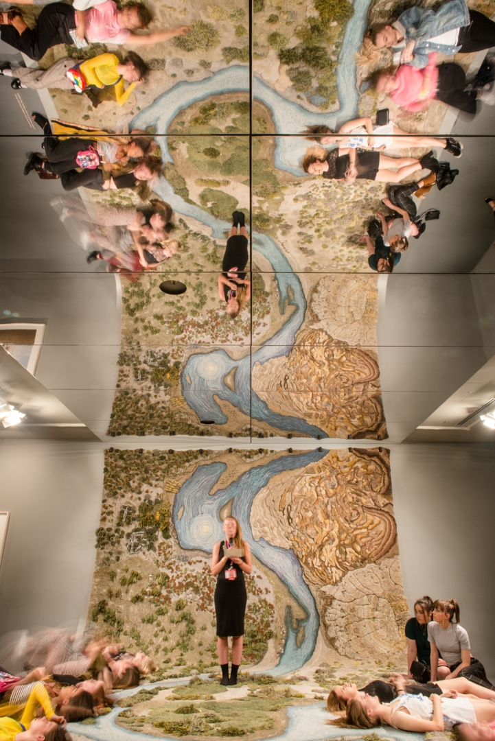 Tour  of  the  NGV  Triennial  in  the  2018  April  Art  Party.   image
