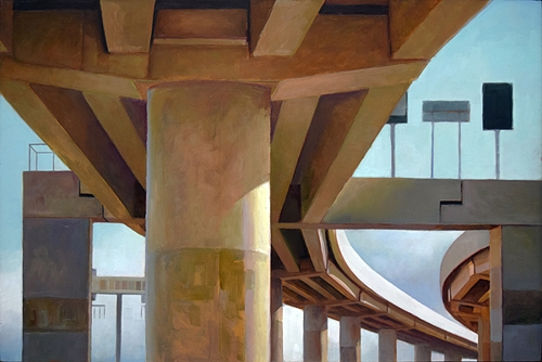 Kevin McKay, 'Among the columns I' 2010, oil on board, 40 x 60cm image