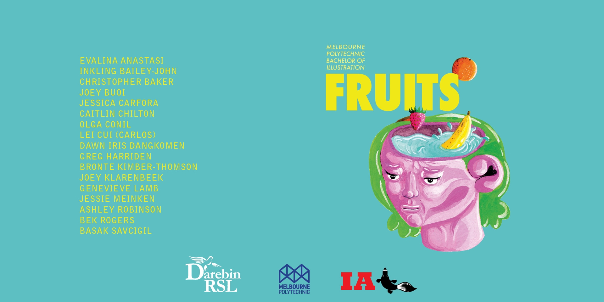 FRUITS // MELBOURNE POLYTECHNIC BACHELOR OF ILLUSTRATION GRADUATE EXHIBITION 2018 image