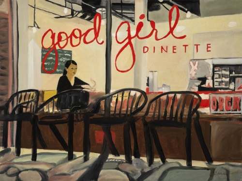 Clare Holzer, Good Girl Dinette, Oil on Canvas, 18'' x 24'' image