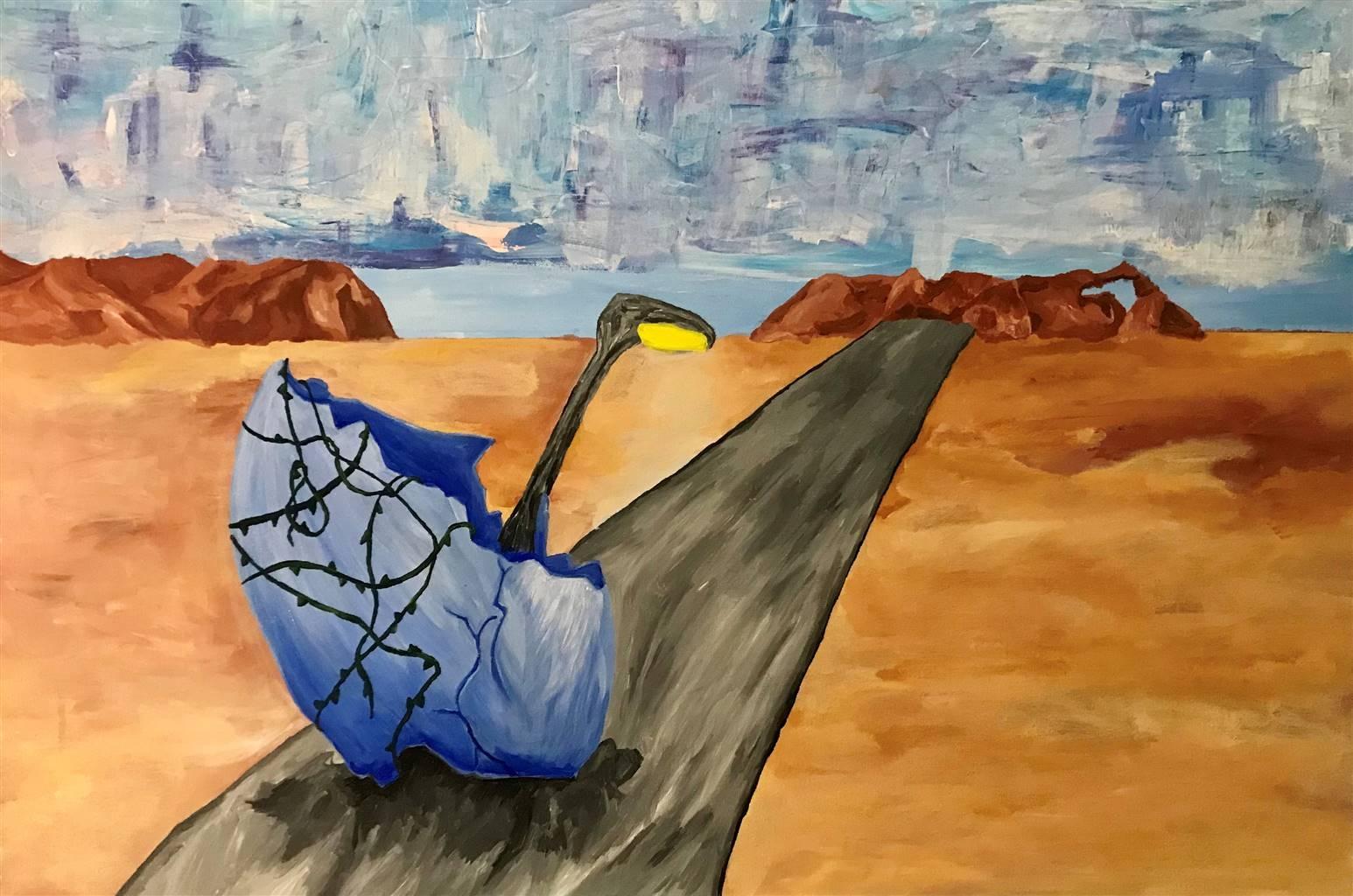 Ethan Lam, Boundary Lit, Acrylic on Canvas, 24'' x 36'' image