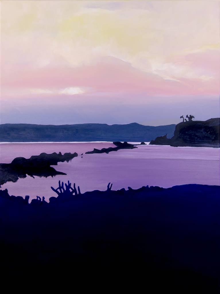 Gabriella Mirabelli,Croton Landing Sunset, Acrylic on Canvas, 40'' x 30'' image