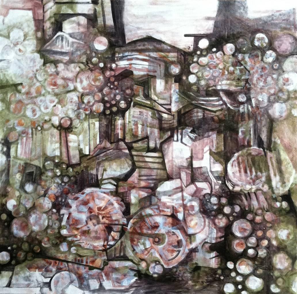 Maggie G. Moran, Bicicletta, Oil on Canvas, 30'' x 30'' image