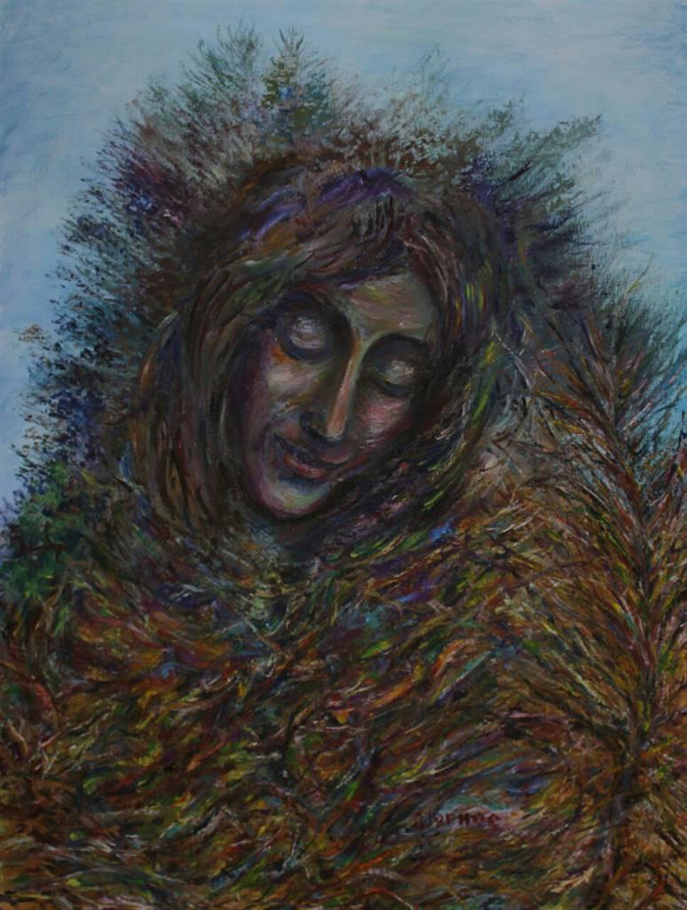 Oleg Kirnos, Autumn Face, Oil on Canvas Board, 31.5'' x 24'' image