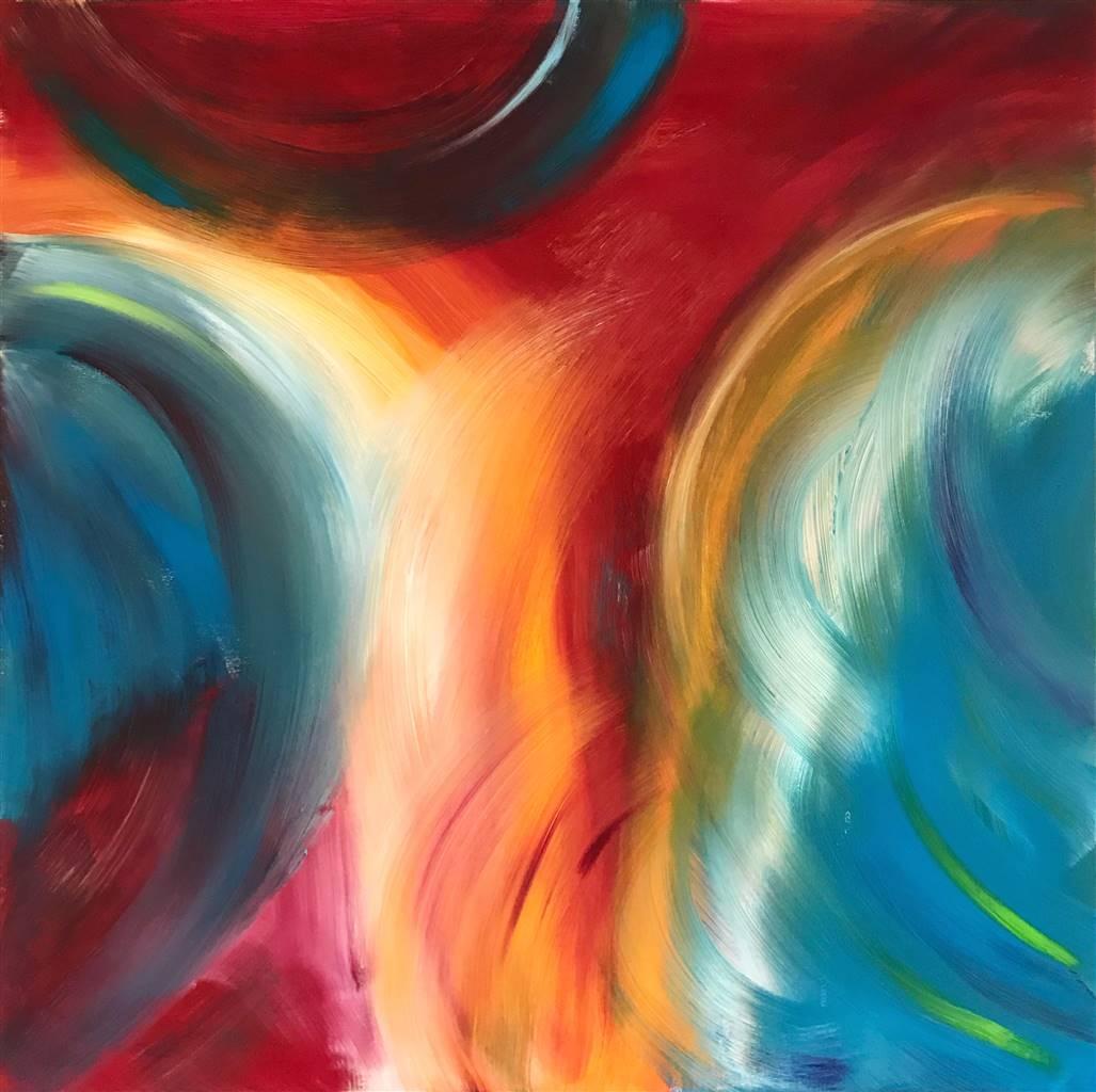 Travis Ballantyne, Feathers, Acrylic on Canvas, 36'' x 36'' image