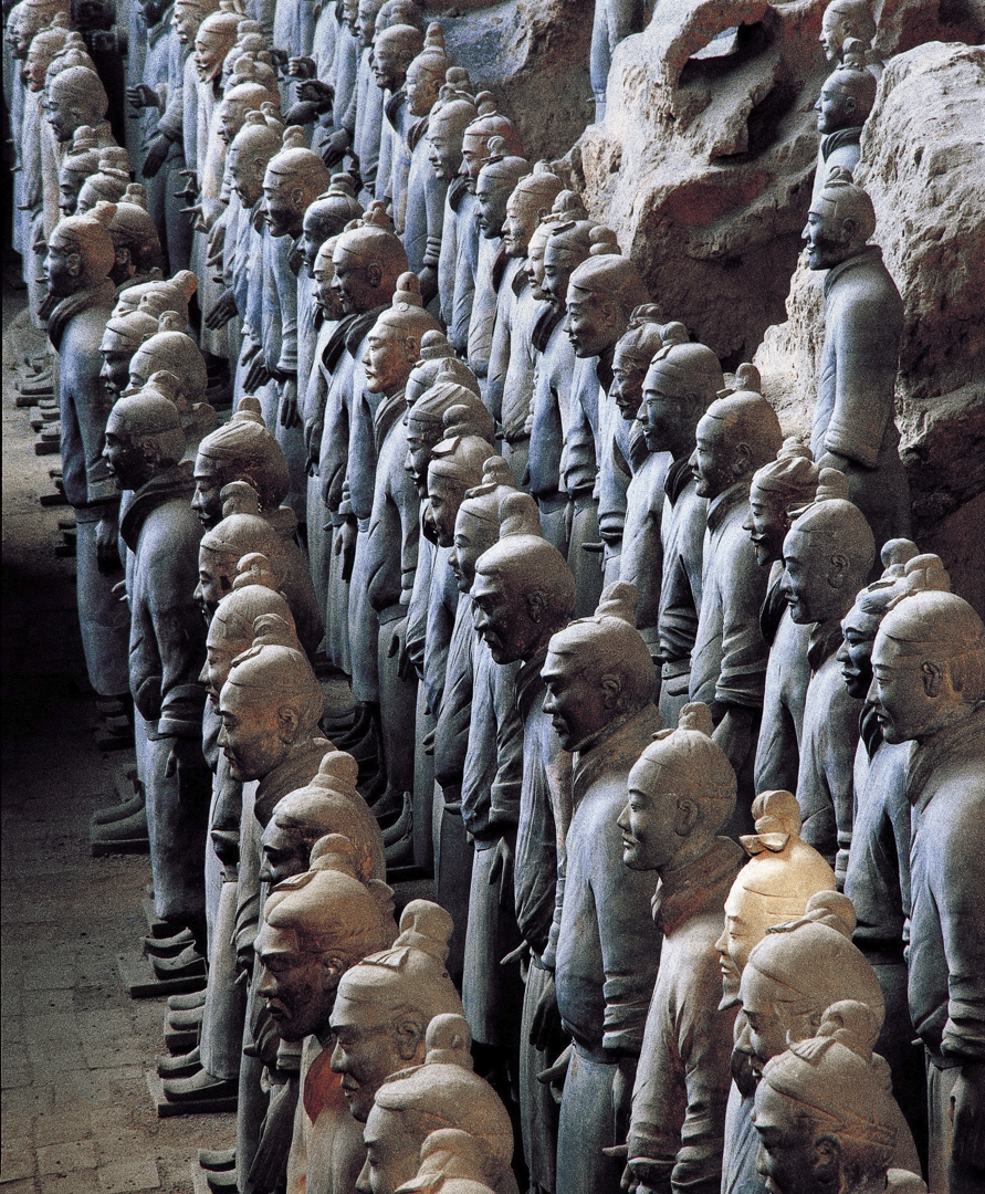CHINESEThe terracotta army Qin dynasty (221-206 BCE) (detail)Earthenware (terracotta)Emperor Qin Shihuang's Mausoleum, Xi'an image
