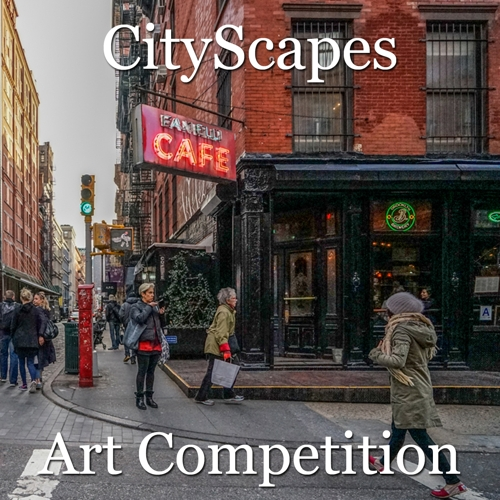"""Call for Art - 9th Annual """"CityScapes"""" Online Art Competition image"""