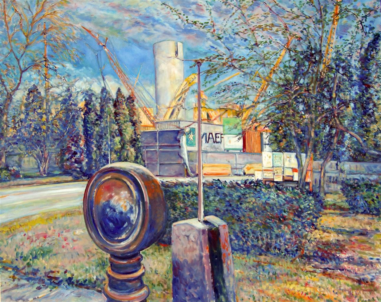James Chisholm,Salem Power Plant,Oil on Canvas, 40'' x 50'' image
