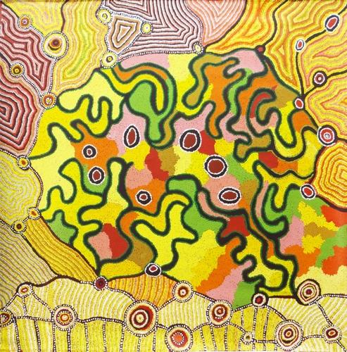 Debra West: Kungkarrangkalpa- Seven Sisters Story WAPCS025-13 Acrylic on canvas, 150x153cm image