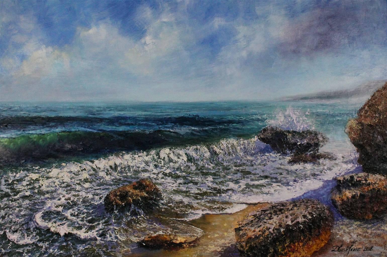 Deana Evstefeeva, Mermaid Beach,Oil on Belgium Linen, 24'' x 36'' image