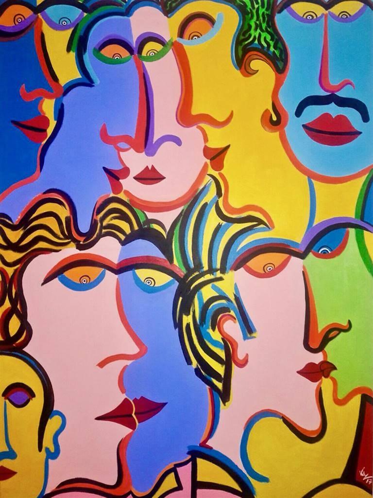 Diego Velez, Reunion,Acrylic on Canvas, 48'' x 36'' image